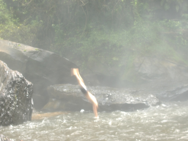 Diving at Phnom Kulen Waterfall
